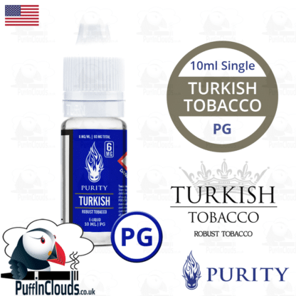 Purity Turkish Tobacco E-Liquid PG 10ml | Puffin Clouds UK
