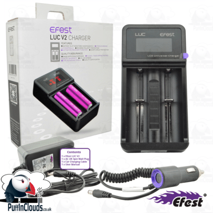 Efest LUC V2 Vaping Battery Charger | Puffin Clouds UK
