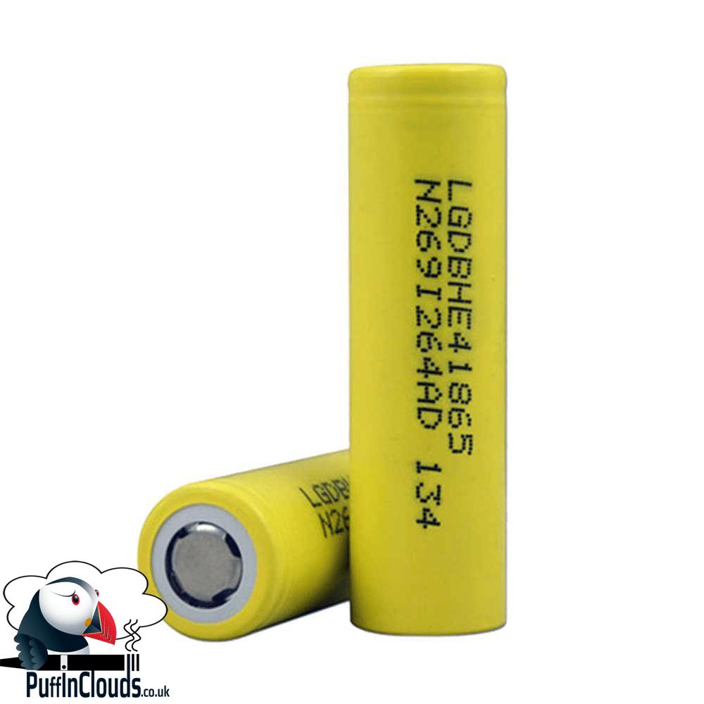 LG HE4 18650 Vaping Battery 2500mAh High Drain Flat Top Battery