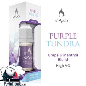 eVo Purple Tundra E-Liquid - Grape & Menthol E-Liquid