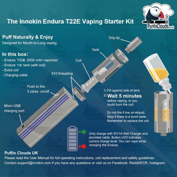 Innokin Endura T22E Vaping Starter Kit