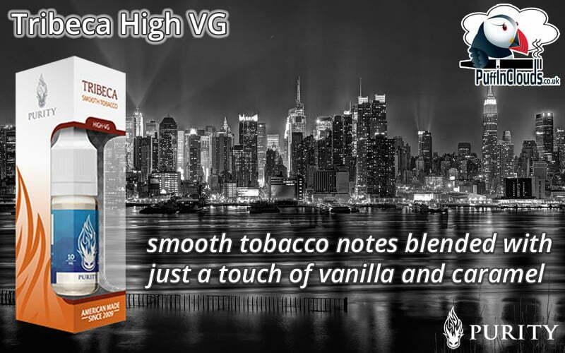 Purity Tribeca High VG E-Liquid - Smooth Tobacco E-Liquid