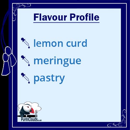 Dinner Lady Lemon Tart eLiquid - Flavour Profile