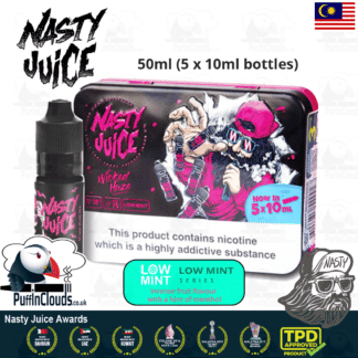 Nasty Juice Wicked Haze E-Liquid (Low Mint) - Blackcurrant & Lemonade eJuice