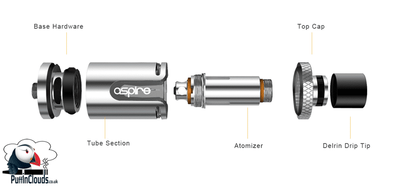 Aspire Cleito EXO Tank - Components | Puffin Clouds UK