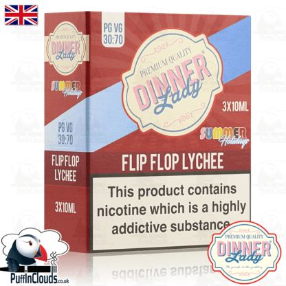 Dinner Lady Flip Flop Lychee E-Liquid   Puffin Clouds