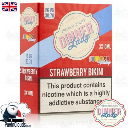 Dinner Lady Strawberry Bikini E-Liquid | Puffin Clouds