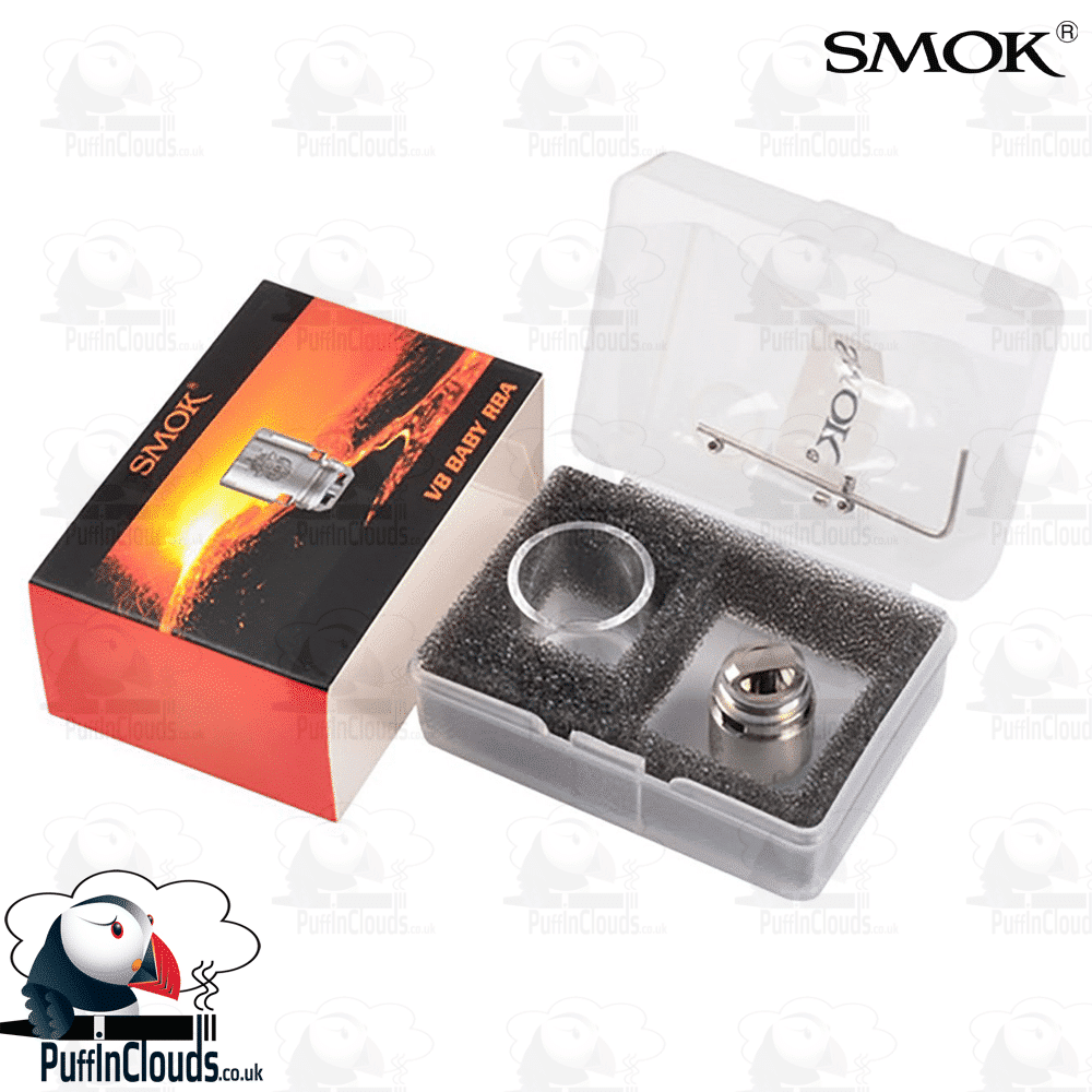 SMOK V8 Baby RBA Deck (Rebuildable Atomiser Head) | Puffin Clouds UK