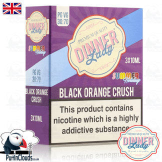 Dinner Lady Black Orange Crush E-Liquid | Puffin Clouds