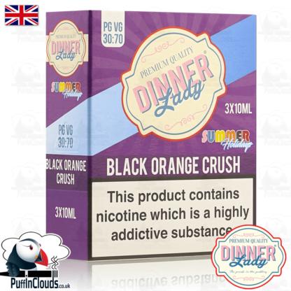 Dinner Lady Black Orange Crush E-Liquid | Puffin Clouds