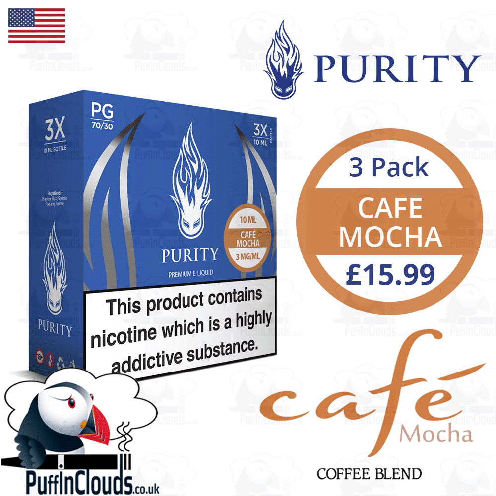 Purity Cafe Mocha E-Liquid | Puffin Clouds UK