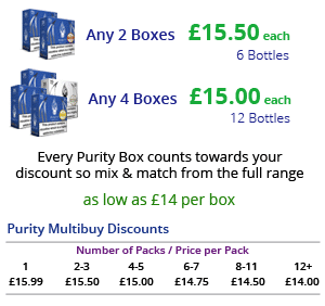 Purity E-Liquid Multibuy Discounts | Puffin Clouds UK