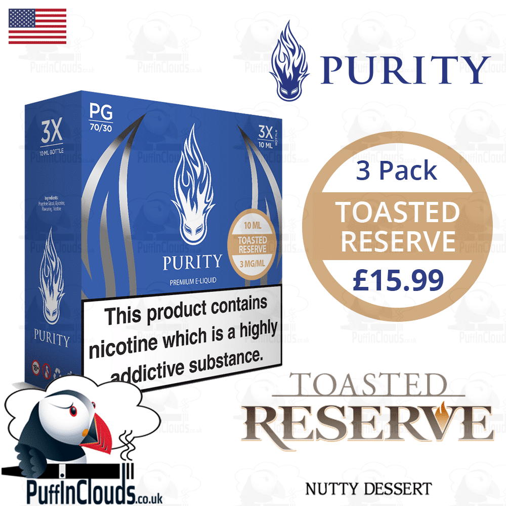 Purity Toasted Reserve E-Liquid | Puffin Clouds UK