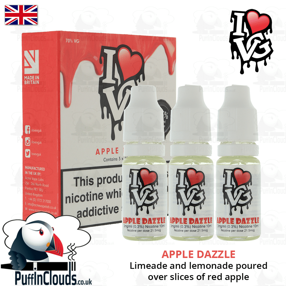 I Love VG Apple Dazzle E-Liquid | Puffin Clouds UK