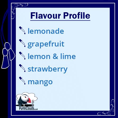 Lemonade House Elegant Fix - Mixed Fruit Lemonade E-Liquid - Flavour Profile | Puffin Clouds UK