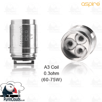 Aspire Athos A3 Coils (3 Pack) | Puffin Clouds