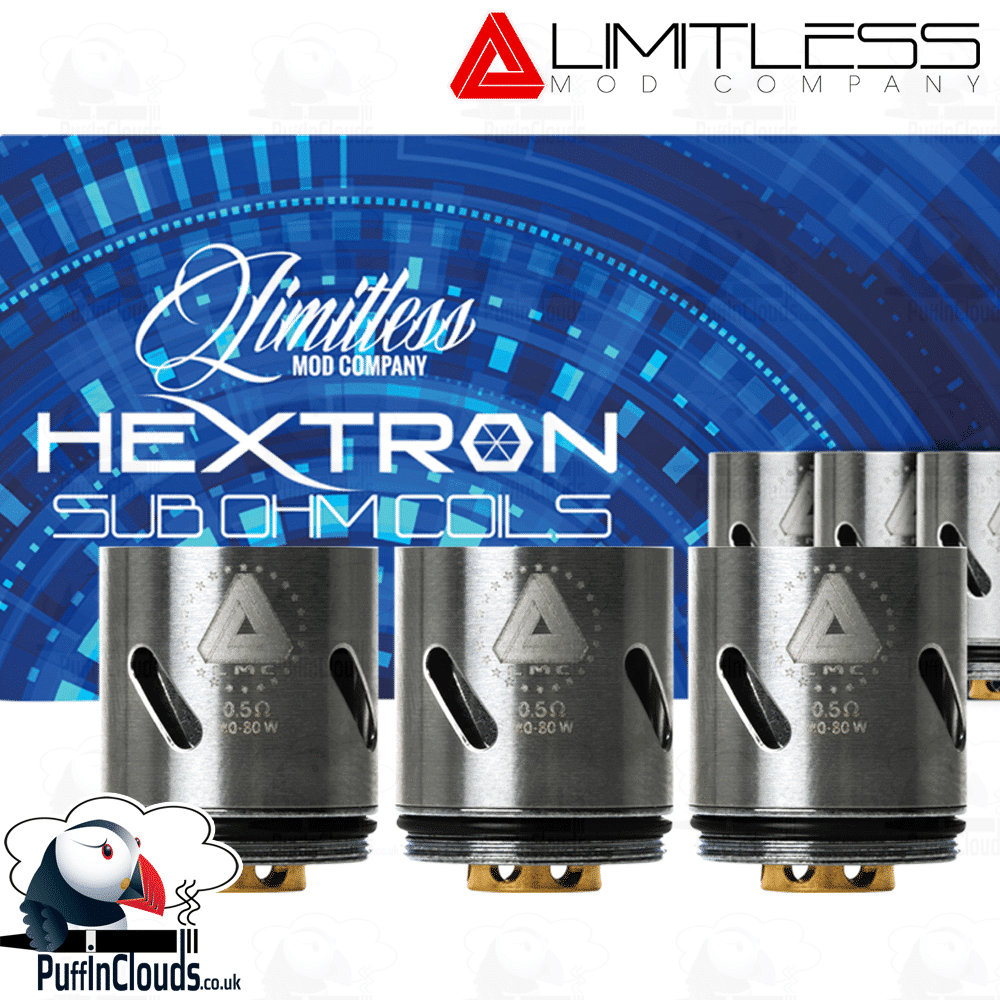 Limitless Hextron Coils ().5 Ohms) | Puffin Clouds UK