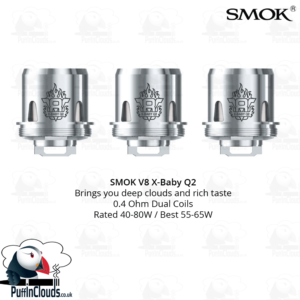 SMOK V8 X-Baby Q2 Coils (3 Pack) | Puffin Clouds UK