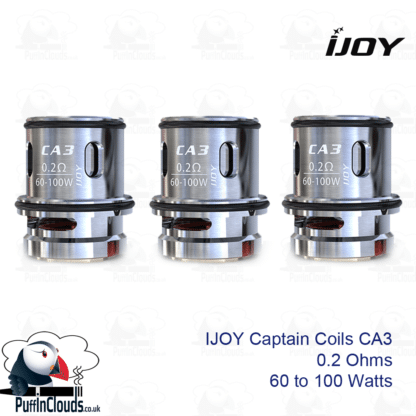 IJOY Captain CA3 0.2 Ohm Coils (3 Pack) | Puffin Clouds UK