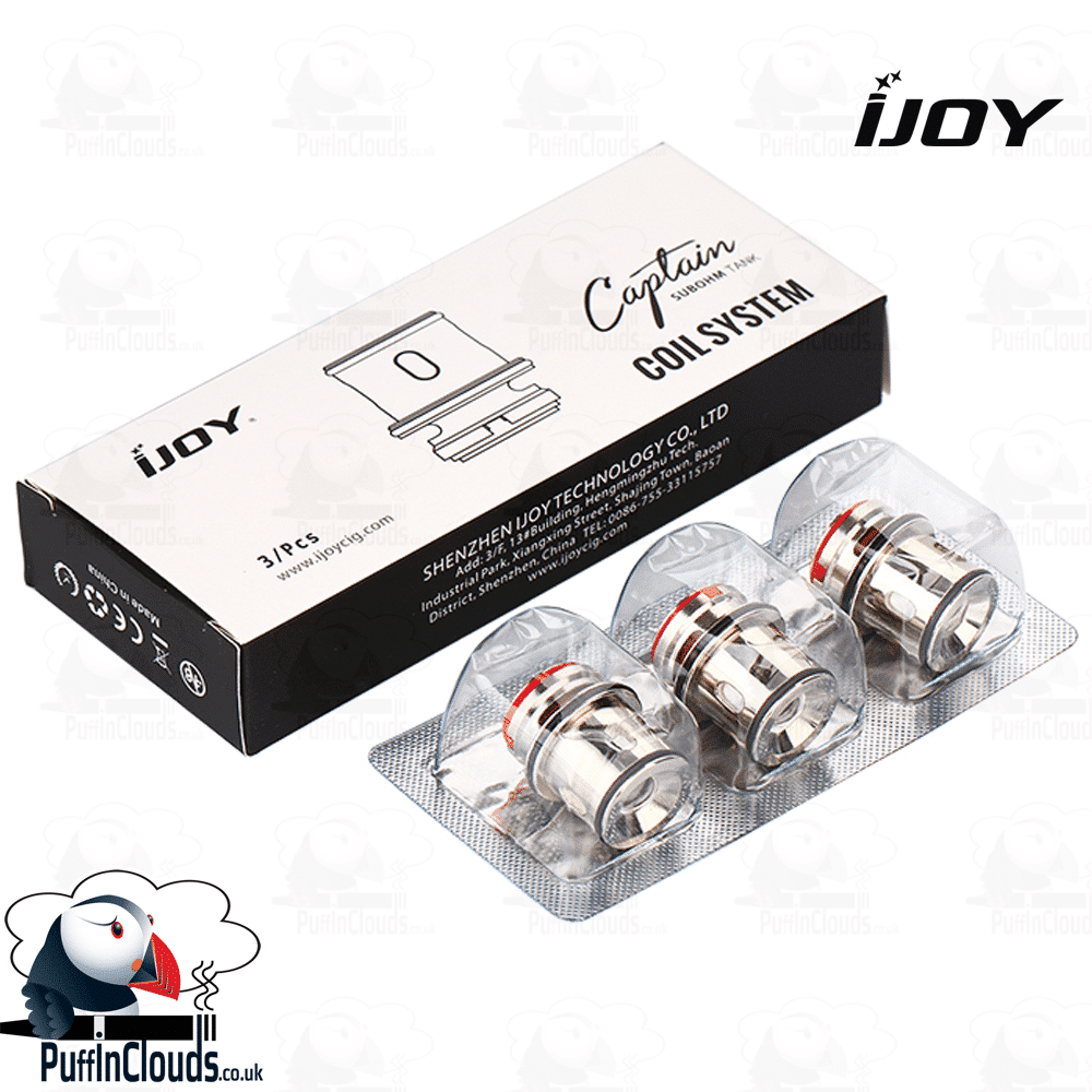 IJOY Captain Coils (3 Pack) | Puffin Clouds UK