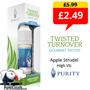 Purity Twisted Turnover High VG 3mg E-Liquid (10ml Single Bottle) | Puffin Clouds UK