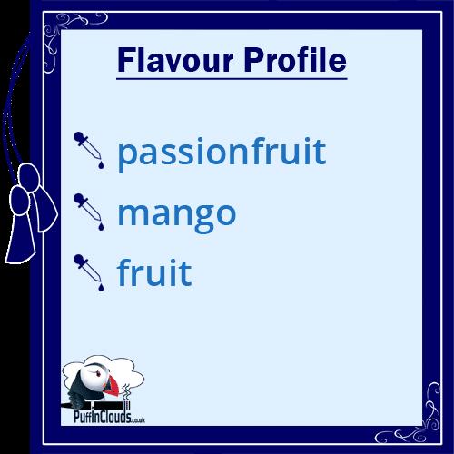 Ohm Brew Passionfruit and Mango Nic Salt E-Liquid Flavour Profile | Puffin Clouds UK