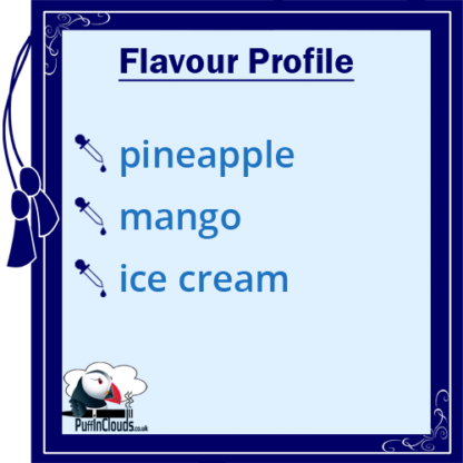 Ohm Brew Pineapple & Mango Ice Cream Nic Salt E-Liquid Flavour   Puffin Clouds UK