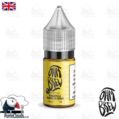 Ohm Brew Pineapple & Mango Ice Cream Nic Salt E-Liquid 50/50   Puffin Clouds UK