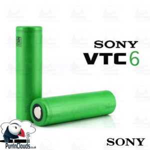 Sony VTC6 18650 Vaping Battery 3000mAh (15A 3.7v) | Puffin Clouds UK