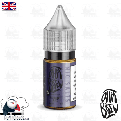 Ohm Brew Blueberry Blitz Nic Salt E-Liquid 50/50   Puffin Clouds UK