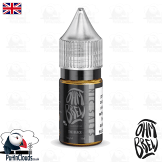 Ohm Brew The Black Nic Salt E-Liquid 50/50 | Puffin Clouds UK