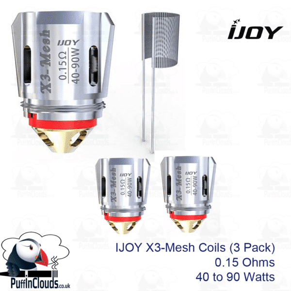 iJoy X3-Mesh Coils 0.15 Ohms (3 Pack) | Puffin Clouds UK
