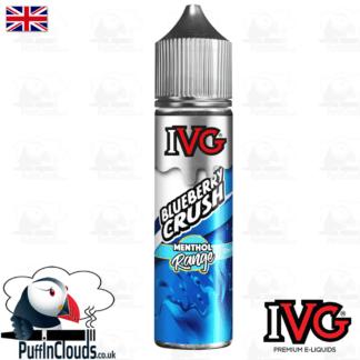 IVG Blueberry Crush Short Fill E-Liquid 50ml   Puffin Clouds UK