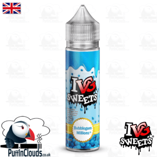 IVG Bubblegum Millions Short Fill E-Liquid 50ml | Puffin Clouds UK