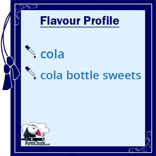 IVG Cola Bottles Short Fill E-Liquid 50ml Flavour Profile | Puffin Clouds UK