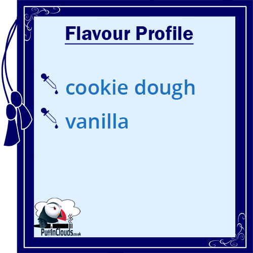 IVG Cookie Dough Short Fill E-Liquid 50ml Flavour Profile | Puffin Clouds UK