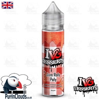 IVG Jam Roly Poly Short Fill E-Liquid 50ml | Puffin Clouds UK
