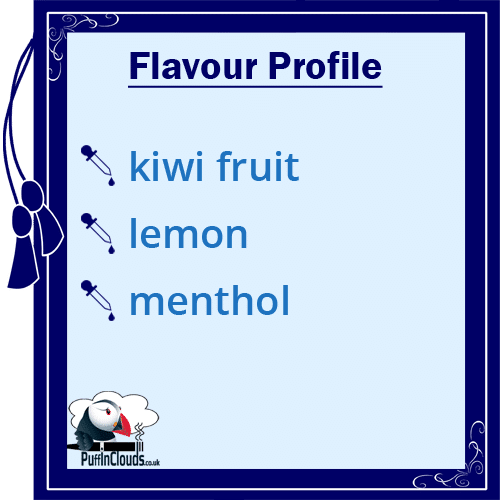 IVG Kiwi Kool Short Fill E-Liquid 50ml Flavour Profile | Puffin Clouds UK