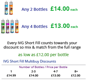 IVG Short Fill E-Liquid Multibuy Discounts | Puffin Clouds UK