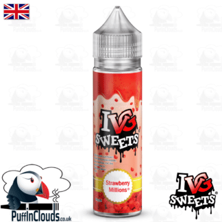 IVG Strawberry Millions Short Fill E-Liquid 50ml | Puffin Clouds UK