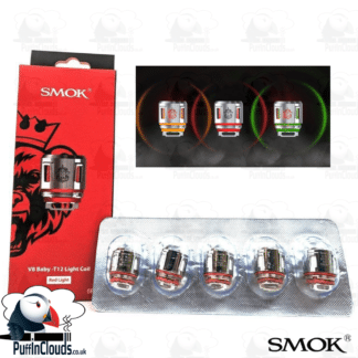 SMOK V8 Baby T12 LED Light Coils (5 Pack) | Puffin Clouds UK
