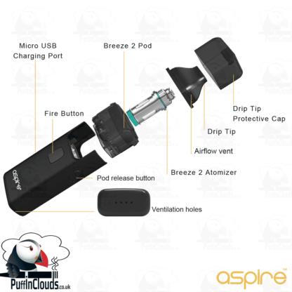 Aspire Breeze 2 Pod Starter Kit | Puffin Clouds UK