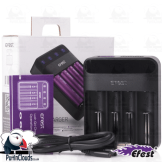 Efest LUSH Q4 Vaping Battery Charger | Puffin Clouds UK