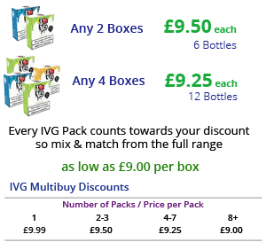 IVG E-Liquid Multibuy Discounts | Puffin Clouds UK