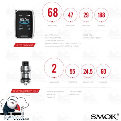 SMOK X-PRIV Baby 80W Starter Kit (UK Edition) | Puffin Clouds UK