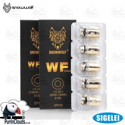 Sigelei SnowWolf Wolf Tank Coils WF/WF-H (5 Pack)   Puffin Clouds UK