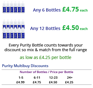 Purity E-Liquid Single Bottle Multibuy Discounts | Puffin Clouds UK