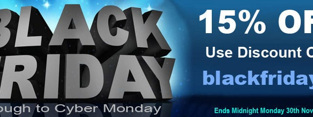 Black Friday 2020 - 15% Discount on Everything! | Puffin Clouds UK