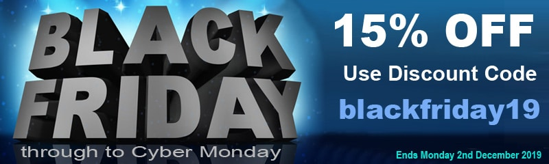 Black Friday 2019 - 15% Discount on Everything! | Puffin Clouds UK