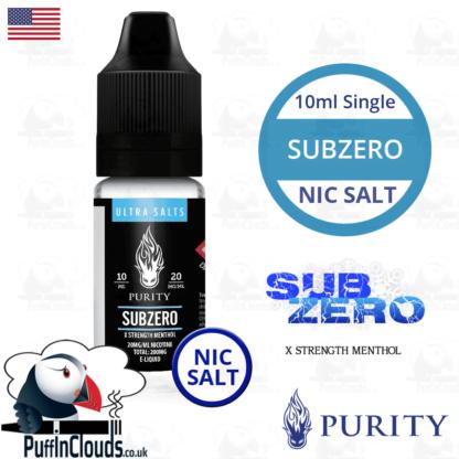 Purity SubZero Nic Salt E-Liquid   Puffin Clouds UK